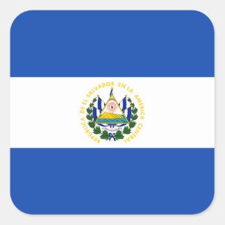 Bandeira da etiqueta de El Salvador