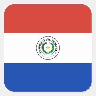 Bandeira da etiqueta de Paraguai