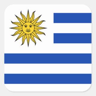 Bandeira da etiqueta de Uruguai