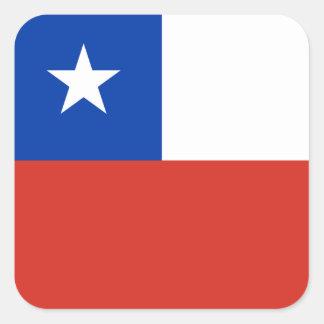 Bandeira da etiqueta do Chile