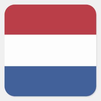 Bandeira da etiqueta quadrada holandesa adesivo quadrado