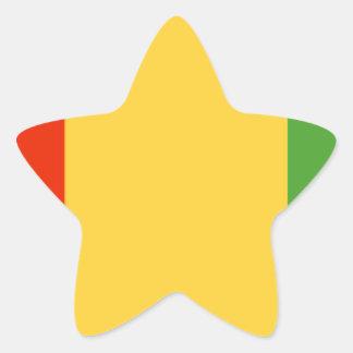Bandeira da Guiné Adesivo Estrela