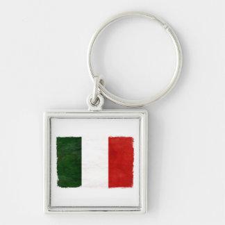 Bandeira da Itália Desgastada Chaveiro