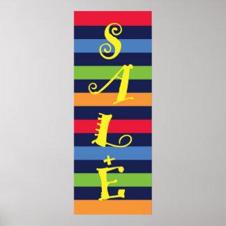 Bandeira da loja de venda poster