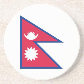 Bandeira da porta copos de Nepal