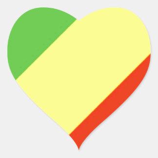 Bandeira da República Democrática do Congo Adesivo Coração