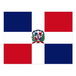 Bandeira da República Dominicana Cartão Postal