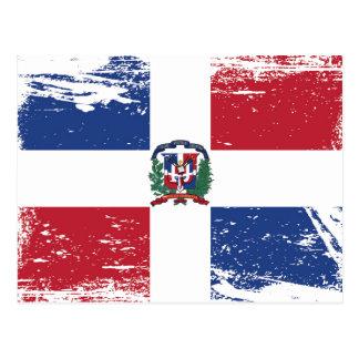 Bandeira da República Dominicana do Grunge Cartão Postal