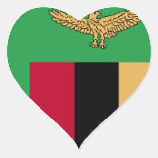 Bandeira da Zâmbia Adesivo De Coração