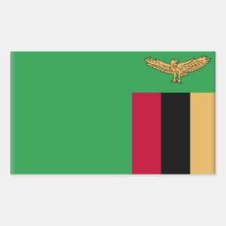 Bandeira da Zâmbia Adesivo Em Forma Retangular