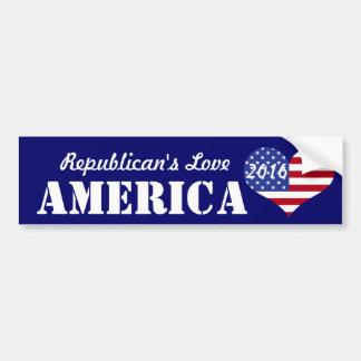 Bandeira dada forma coração do amor America-U.S. Adesivo Para Carro