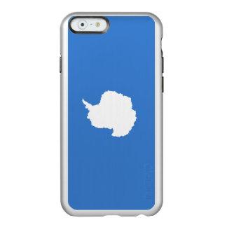 Bandeira das capas de iphone de prata da Antártica