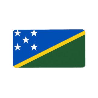 Bandeira das etiquetas de Solomon Island Etiqueta De Endereço