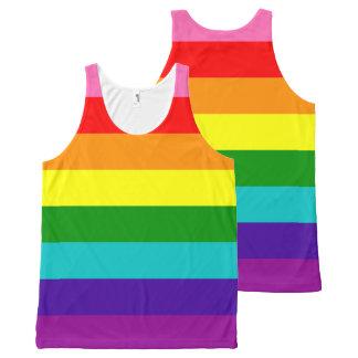 Bandeira das listras do original 8 do orgulho gay regata com estampa completa