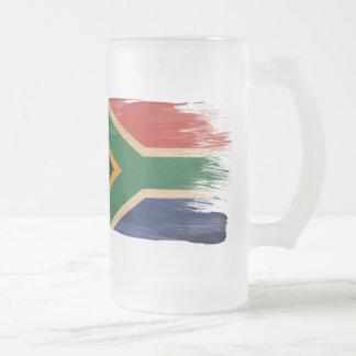 Bandeira de África do Sul Caneca De Cerveja Vidro Jateado