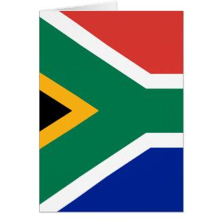 Bandeira de África do Sul Cartão Comemorativo