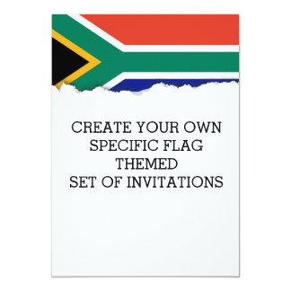 Bandeira de África do Sul Convite 12.7 X 17.78cm