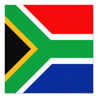 Bandeira de África do Sul Convite Quadrado 13.35 X 13.35cm