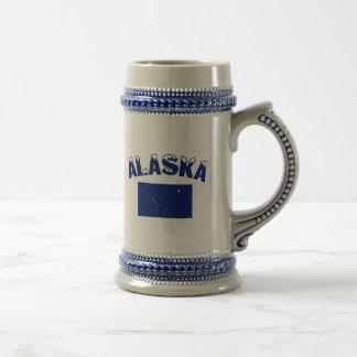 Bandeira de Alaska Caneca De Cerveja