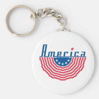 Bandeira de América Chaveiro