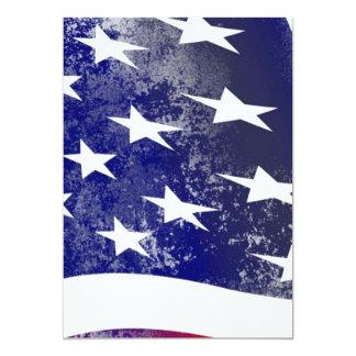 Bandeira de América Convite 12.7 X 17.78cm