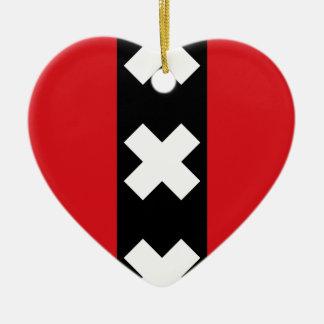 Bandeira de Amsterdão Ornamento De Cerâmica