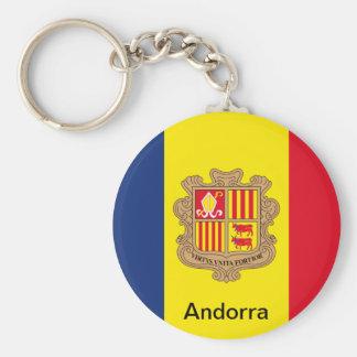 Bandeira de Andorra Chaveiro