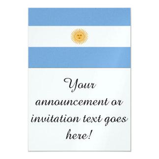 Bandeira de Argentina Convite 12.7 X 17.78cm