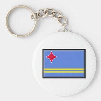 Bandeira de Aruba Chaveiro