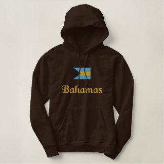 Bandeira de Bahamas Moletom Com Capuz Pulôver Bordado