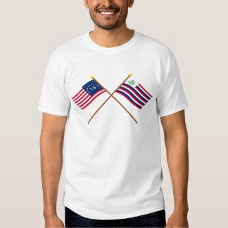 Bandeira de Bennington & bandeira cruzadas do Tshirts