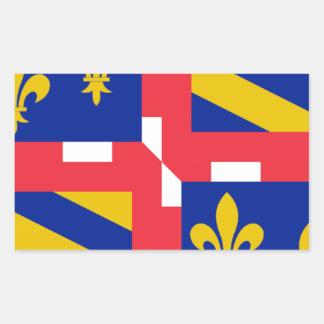 Bandeira de Bourgogne (France) Adesivos Em Formato Retangulares