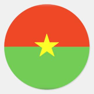 Bandeira de Burkina Faso Adesivo