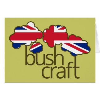 Bandeira de Bushcraft Reino Unido Cartão Comemorativo