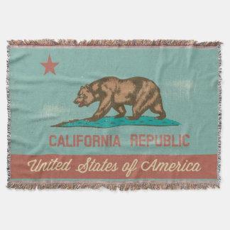Bandeira de Califórnia do estilo do vintage Manta