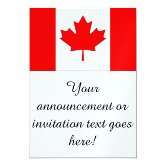 Bandeira de Canadá Convite 12.7 X 17.78cm