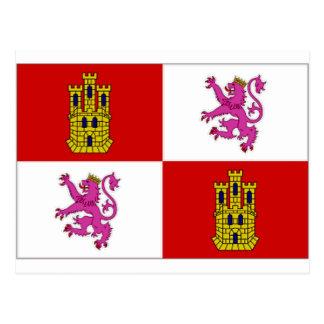 Bandeira de Castilla Leon da espanha Cartões Postais