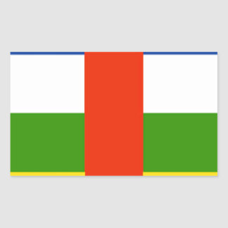 Bandeira de Central African Republic Adesivos Em Formato Retangulares