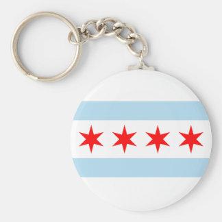Bandeira de Chicago Chaveiros