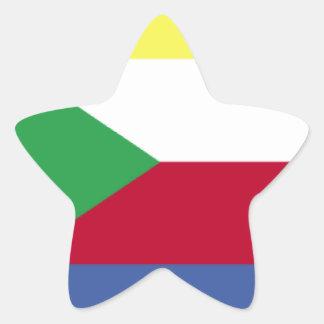 Bandeira de Cômoros Adesivo Estrela
