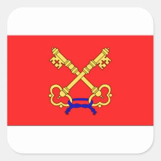 Bandeira de Comtat Venaissin (France) Adesivo Em Forma Quadrada