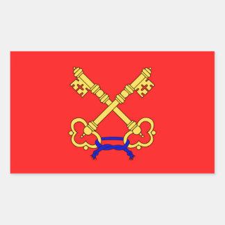 Bandeira de Comtat Venaissin (France) Adesivos Retangular