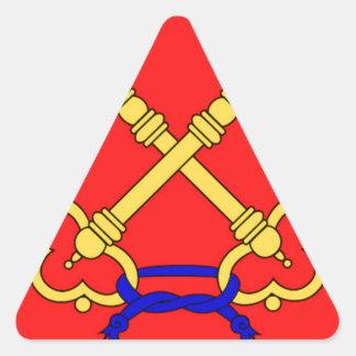 Bandeira de Comtat Venaissin (France) Adesivo Em Forma De Triângulo