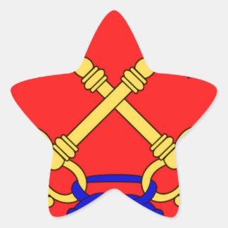 Bandeira de Comtat Venaissin (France) Adesivos Estrelas