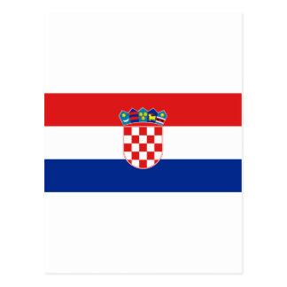 Bandeira de Croatia Cartoes Postais