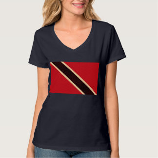 Bandeira de De Trindade e Tobago do teste padrão T-shirts