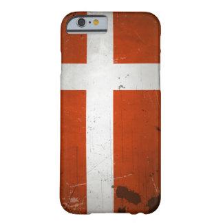 Bandeira de Dinamarca do Grunge do vintage Capa Barely There Para iPhone 6