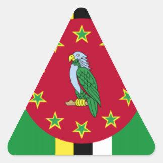 Bandeira de Dominica Adesivo Triangular