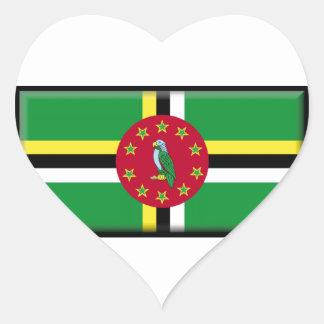 Bandeira de Dominica Adesivos De Corações