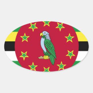 Bandeira de Dominica Adesivos Em Formato Oval